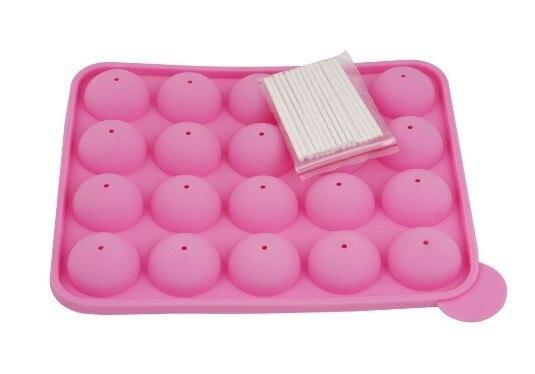 Cake Pop Pan Mold Tray Baking Pan 25 Sticks Pink Standard Size