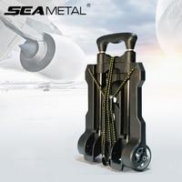 Car Travel Luggage Cart Universal Folding Trolley Cart Shopping Carrier Auto Retractable Trailer For KIA RIO Cerato Sportage SUV