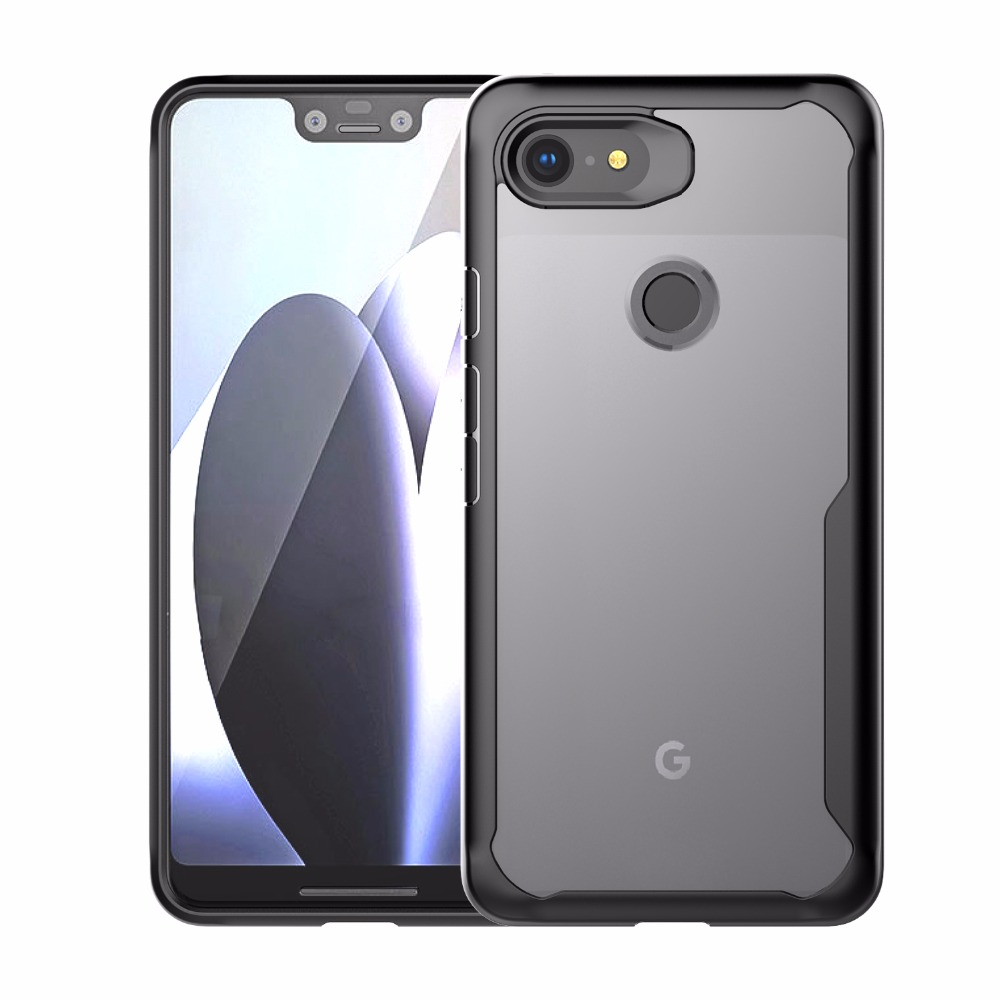 Cocose For Google Pixel 3xl Case Cover Tpu Hd Transparent Pc Anti Shock Cases For Google Pixel 3 Xl Back Cover Case Fundas