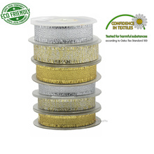 Gold Silver Fringed Edge Ribbon 5/8 7/8 1-1/2 Inch 16 22 38MM  For DIY Sewing Cloth Gift Handmade WeddingTape