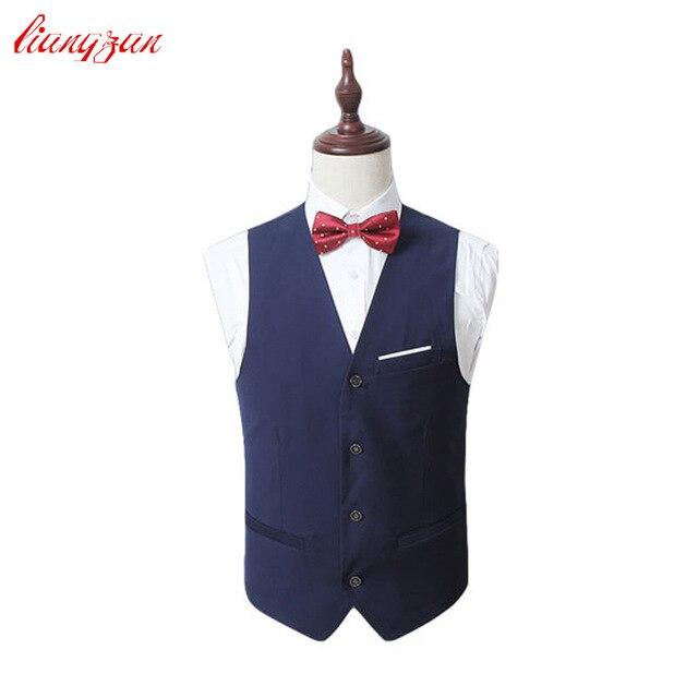 Men Formal Suit Vest Business Slim Fit Waistcoat Brand Design Plus Size Fashion Tuxedo Costume Chaleco Hombre SL-E526