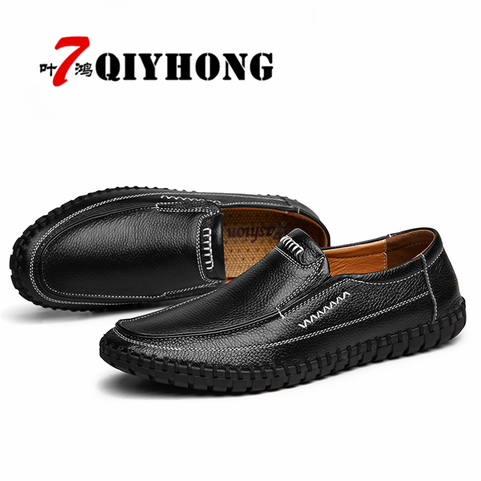 Zapatos Hombre QIYHONG Brand Men Shoes Spring/ Summer New Fashion Leather Men'S Casual Shoes Fashion Mesh Shoes Plus Size 38-46 inflatable water spoon outdoor game water ball summer water spray beach ball lawn playing ball children s toy ball