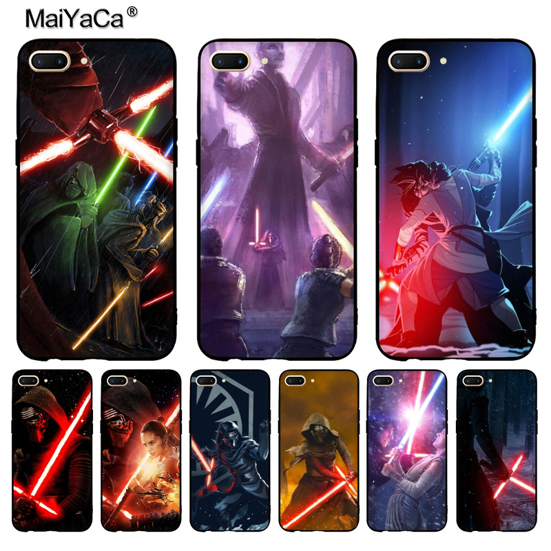 MaiYaCa REY KYLO REN LIGHTSABER FIGHT Fashion phone case cover for OPPO R9 R9S R11 PLUS casefor vivo X9 PLUS X20 case