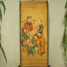 China Antique collection Boutique Calligraphy and painting The God of longevity diagram