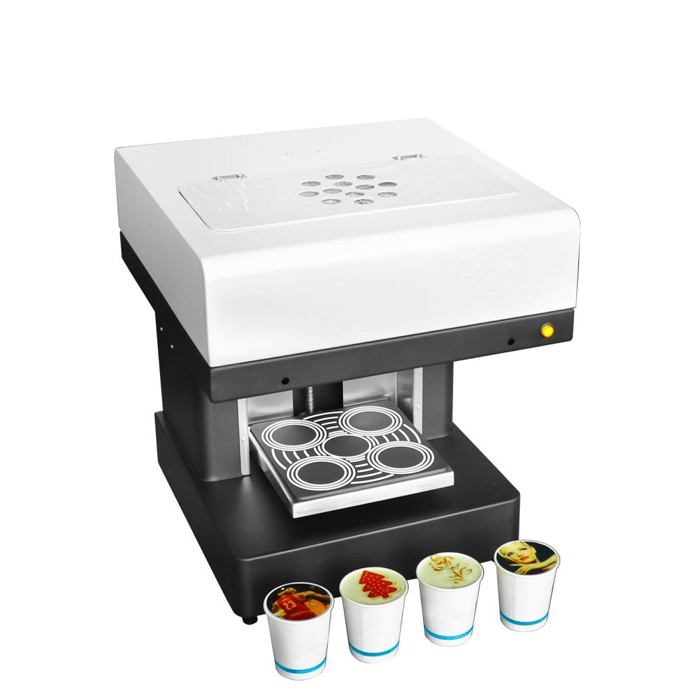 Machine à café comestible de gâteau de café de machine à café d'imprimante à jet d'encre de nourriture et de café de 4 tasses avec l'imprimante automatique multifonctionnelle