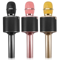 4 Colors Wireless Karaoke Microphone bluetooth Handheld Microphone Mini Speaker KTV Party For Phone Household