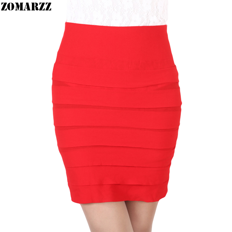 New Sexy Night Club Wear Women High Waist Pleated Skirt Pencil Girls Short Mini Skirts Tight Basic Kilt 2018 Fashion