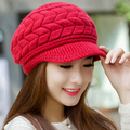 2016 New Arrival Solid Women Beret Hat Gorros Beanies Hats For Women Fashion Winter Hats Toucas De Inverno Knitted Hat Skullies