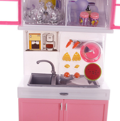 Aliexpress.com : Buy Mini Doll Pink Kitchen Set Furniture Dollhouse  Miniature For Kids Child Play Toy Educational Toy Baby Toys Gift From  Reliable Dollhouse ...