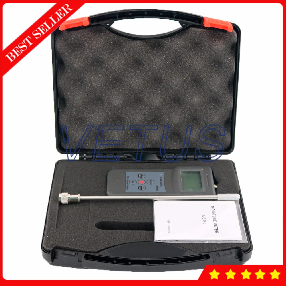 MS350 0-80% digital soil moisture meter with Capacitive Tester portable coal powder Moisture Detector mc 7806 digital moisture analyzer price pin type moisture meter for tobacco cotton paper building soil