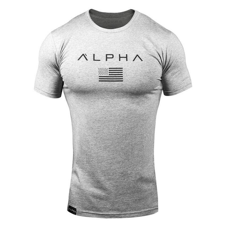 New Clothing Fashion T Shirt Men Cotton Breathable Mens Short Sleeve Fitness t-shirt Gyms Tee Tight Casual Summer Top 9