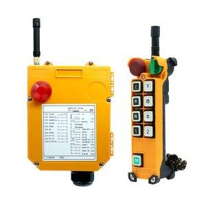 Image 4 - Duplo/único guindaste da velocidade F24 8D/s que conduz o guindaste industrial de controle remoto sem fio industrial 1 receptor 2 transmissor 220v12v24v