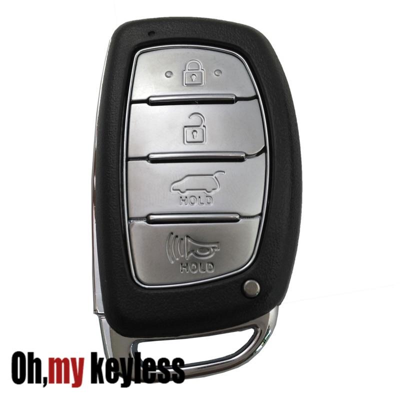 Replacement Key Fob Case for Hyundai Sonata Tucson Elantra Keyless Entry Key Fob Shell