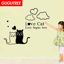 Decorate cats cloud letter art wall sticker decoration Decals mural painting Removable Decor Wallpaper LF-1823