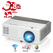 CAIWEI mini led projector WiFi Digital HDMI VGA USD AV port portable projector Android Airplay Proyector Video Games TV Show