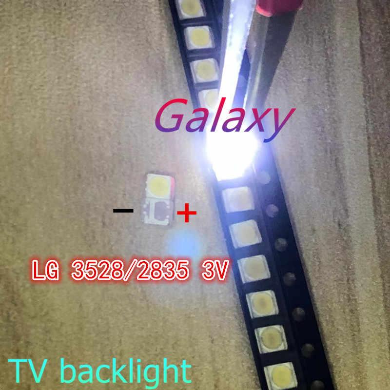 3528 100 Pcs/Banyak 2835 3V SMD LED Beads 1W LG Dingin Putih 100LM untuk TV/LCD Lampu Latar