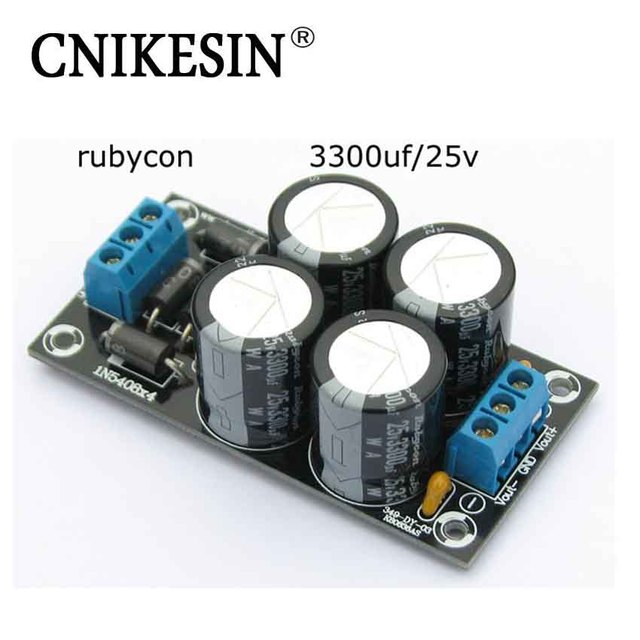 Cnikesin diy electronic power amplifier rectifier filter capacitor cnikesin diy electronic power amplifier rectifier filter capacitor 3300uf 25v dc dual power module pcb circuit sciox Image collections