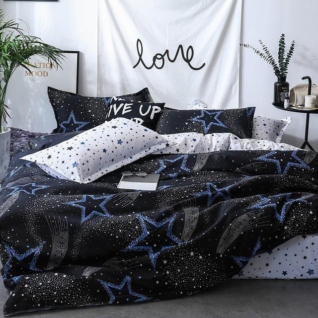 Black Star Bedding Set