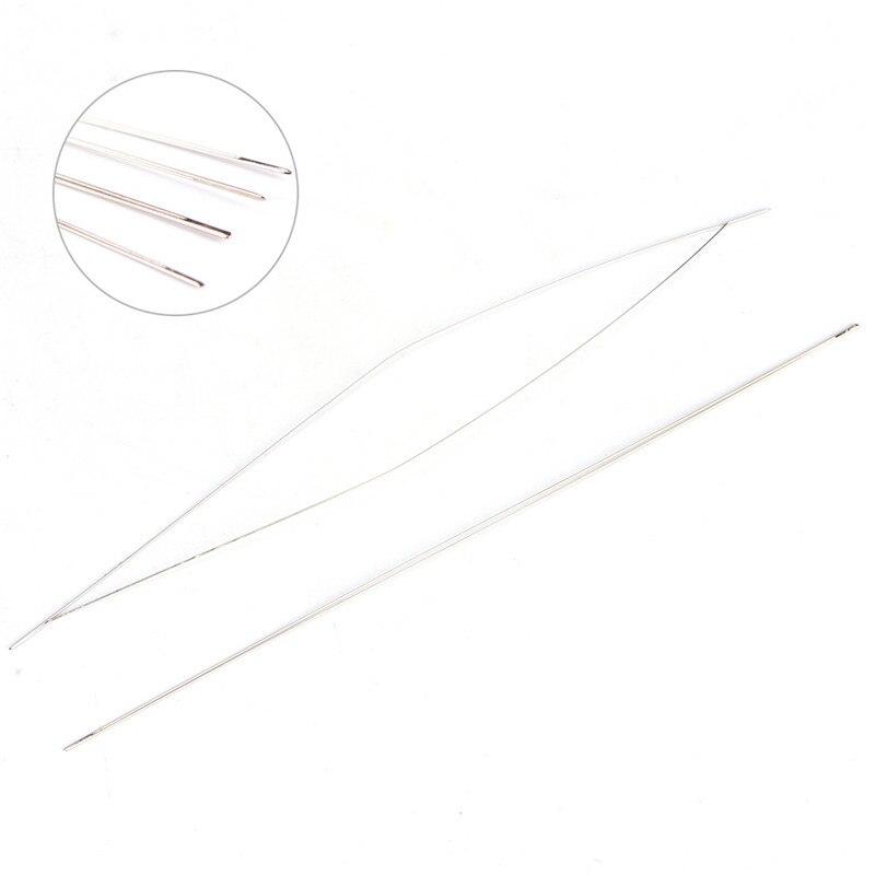 Оптовая продажа 5 шт. Большой Глаз Изогнутые Бисер иглы Threading строка шнур ювелирных изделий инструмент