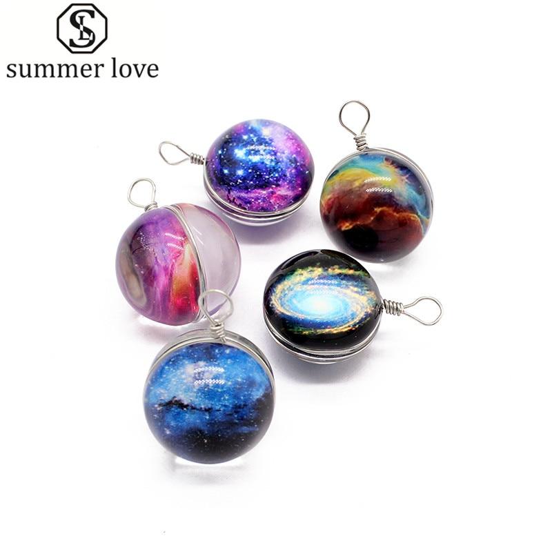 Fantastic 20mm Round Ball Galaxy Glass Stars Sky Planet