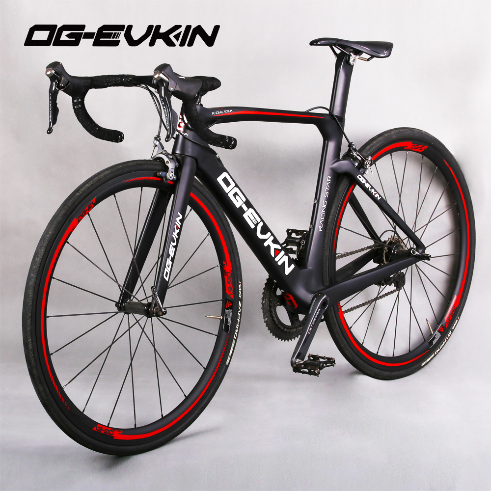 цена на OG-EVK New Arrival 700C 22 speed Carbon Road Bike Complete Bicycles UD 53-39T Glossy/Matt Powerway R36 BB386 SHIMAN0 R8000 6800