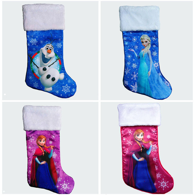 47cm185 plush stain large christmas stockings cartoon elsa anna finding dory olaf