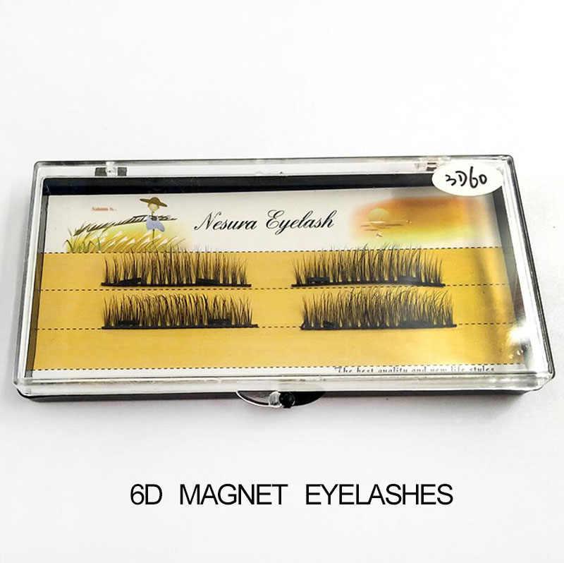 b44200fa3cb Magnetic False Eyelashes Fake 3D Mink Strip Lashes Full Strip Handmade  Natural Thick Individual Eyelash Extension