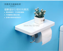 free shipping multifunction bathroom paper phone holder with hook bathroom smarkphone towel rack toilet paper holder tissue box(China (Mainland))