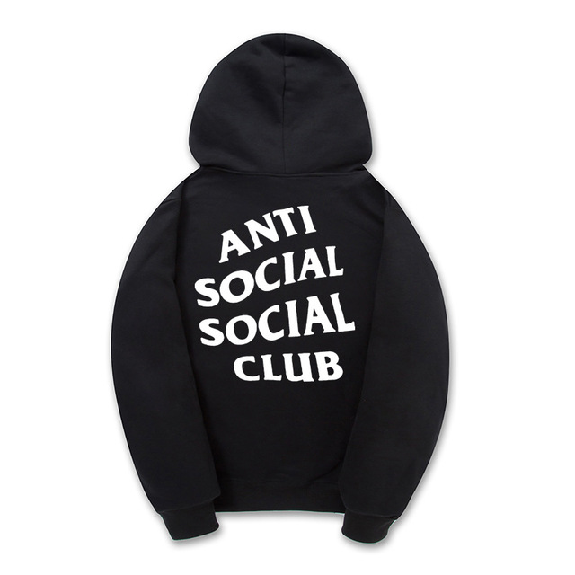 Hip Hop Anti Social Social Club Hoodie Men Women Sportswear Skateboard Sweatshirts Mens Pullover Hoodies Fleece Tracksuit