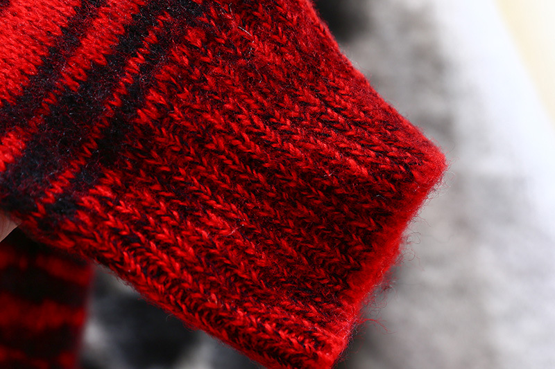 Maglione Photo Parti Manicotto Di Allentato Donne Delle Superiori 2018 Color Maglia Mohair Rotonda Cuciture Maniche Pigro Leopardo Del Retro Colore Collo A Nuovo Due wBTx4nTzY