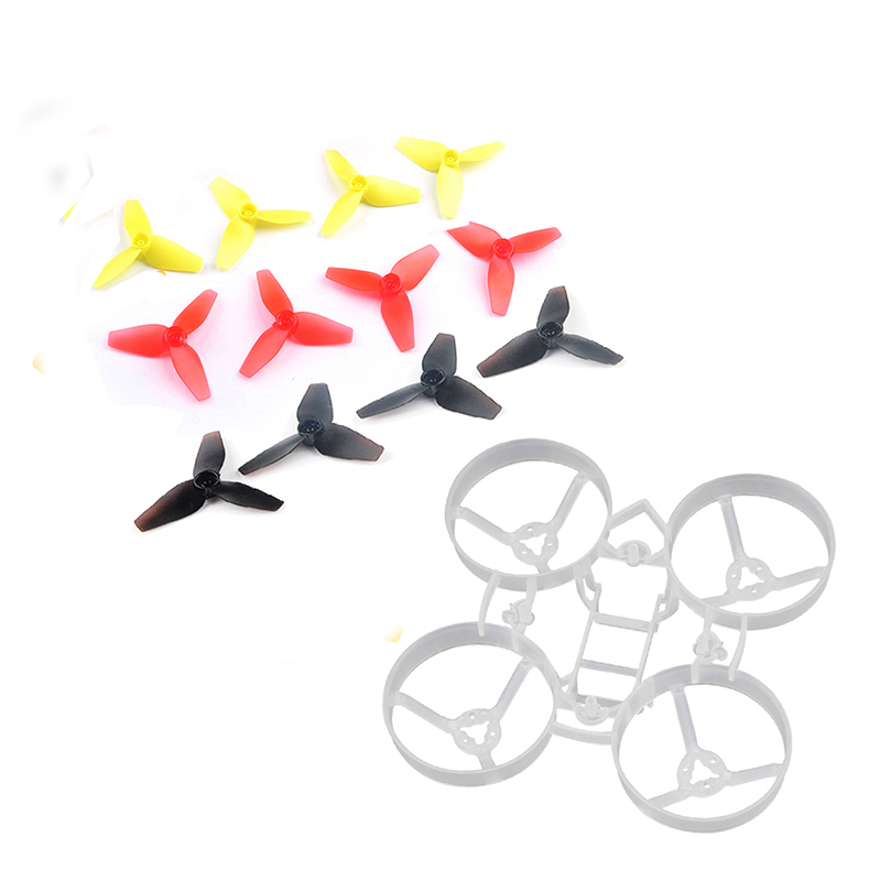75mm Bwhoop75 Brushless Bwhoop Frame Kit with 6Pairs CCW CW 40mm 3-Paddle  Propeller for FPV Racing Drone Quadecopter