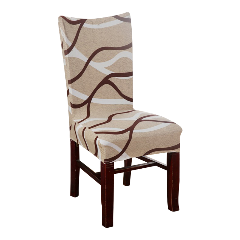 cheap dining room chair | Brown Curve Chair Covers Cheap Jacquard Stretch Chair ...