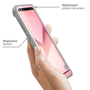"Image 5 - Original I BlasonสำหรับSamsung Galaxy S8กรณี5.8 ""Ares Series Bumper Bumper Case built In Screen Protector"