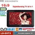 O Envio gratuito de novos produtos 9 polegada embutido DVBT tunner portátil, DVB-T, DVB-T2 TV digital embutido TV Modelo: D9