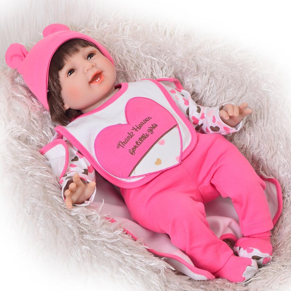 "Handmade Xmas Gifts Reborn Baby Dolls Lifelike 22/"" Toddler Silicone Girl Doll"