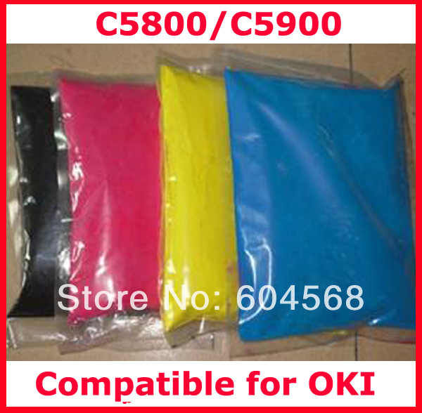 High quality color font b toner b font powder compatible for OKI C5800 C5900 Free shipping