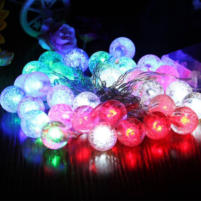 Guirlande Lumineuse Led String Fairy Christmas Battery Operated Lights 5m Navidad New Year Luminarias Bubble Ball Wedding Decor стоимость