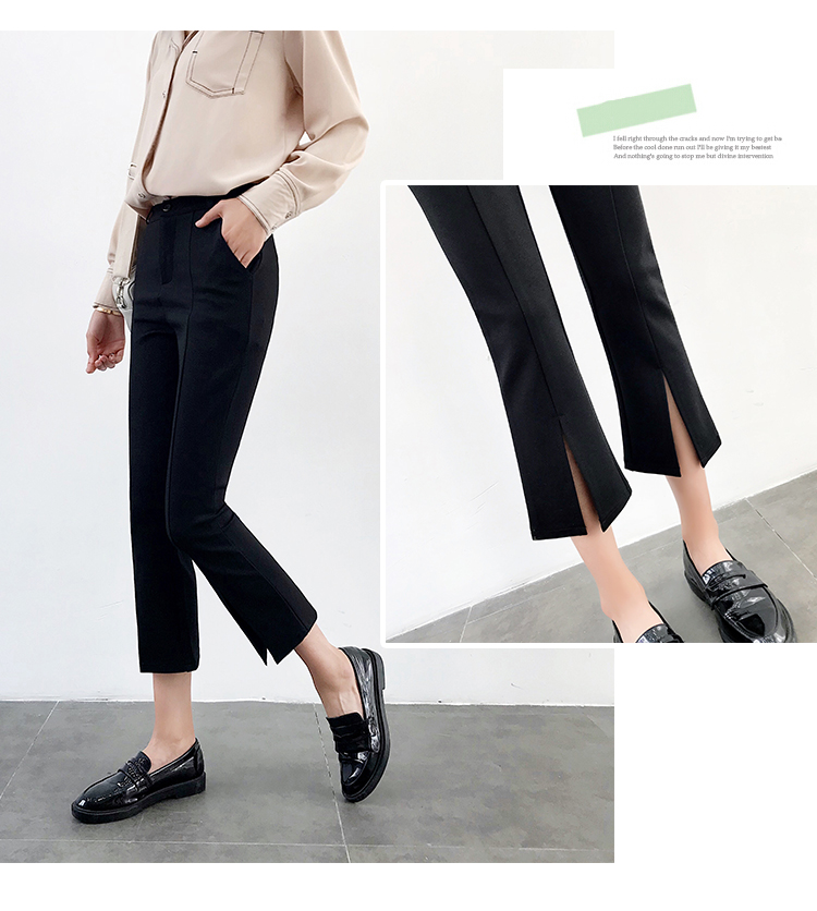 High-waisted Flare Pants Women 2018 Summer New Hot Fashion Female Casual Loose Ankle-length Pants Trousers Bottoms 18
