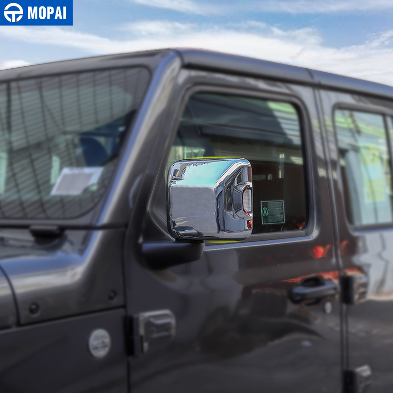 Image 3 - MOPAI Car Mirror & Covers for Jeep Wrangler JL 2018 Rearview Mirror Cover Shell Stickers for Jeep JL Wrangler Accessories-in Mirror & Covers from Automobiles & Motorcycles