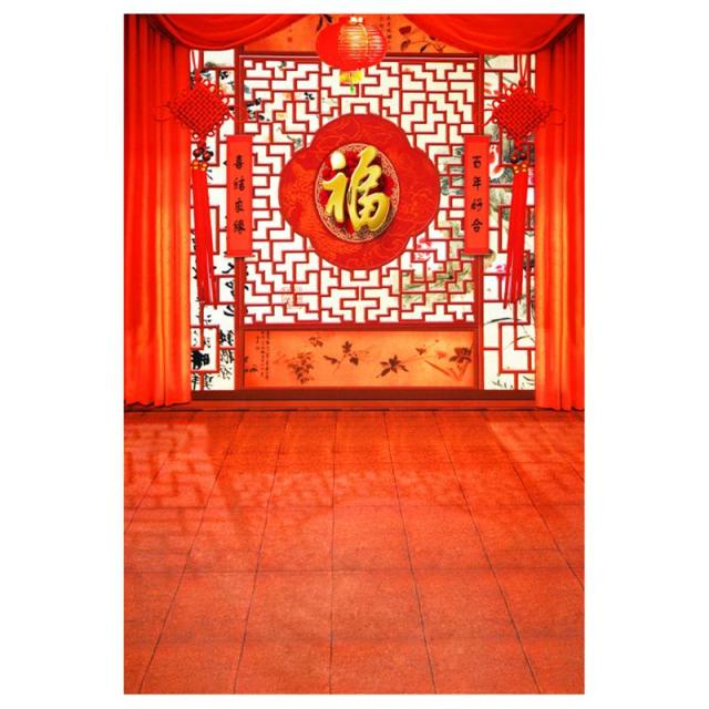 alloyseed chinese new year theme background red floor theme photo studio photography props cloth fabric backdrop
