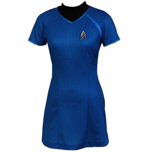 Star Trek Costume Cosplay Into Darkness Fleet Uhura Full Set Blue Dress Uniform Carnival Cosplay Costume