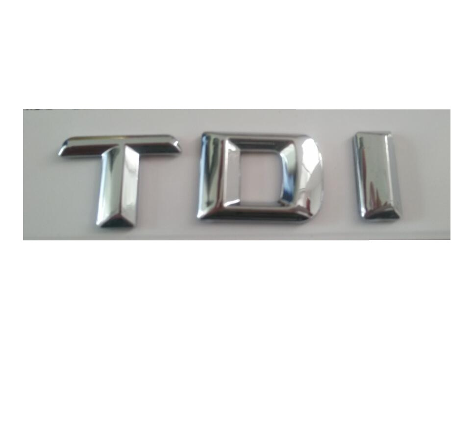 Chrome  TDI Car Trunk Rear Letters Words Badge Emblem Letter Decal Sticker for Mercedes Benz