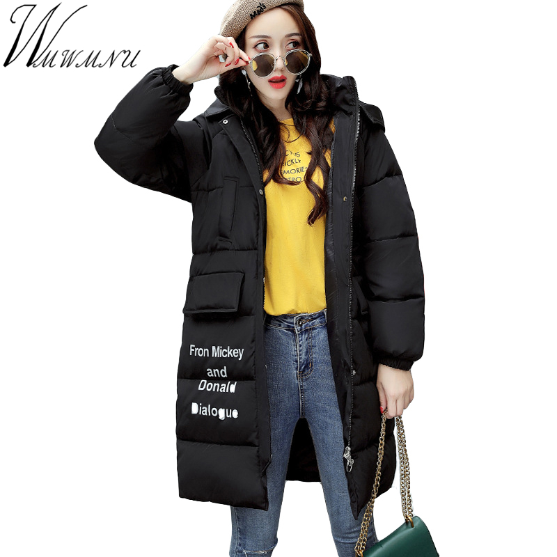 Wmwmnu Autumn Winter Women's Parka Hooded Warm Jacket New Fashion big yard Thick Outwear Coat cotton padded women clothing