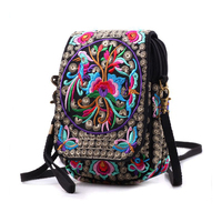 Handmade Delicate Clutch Wallet Women Handbag Ethnic Shoulder Bags Purse Retro Butterfly Flower Coin Purse Lady