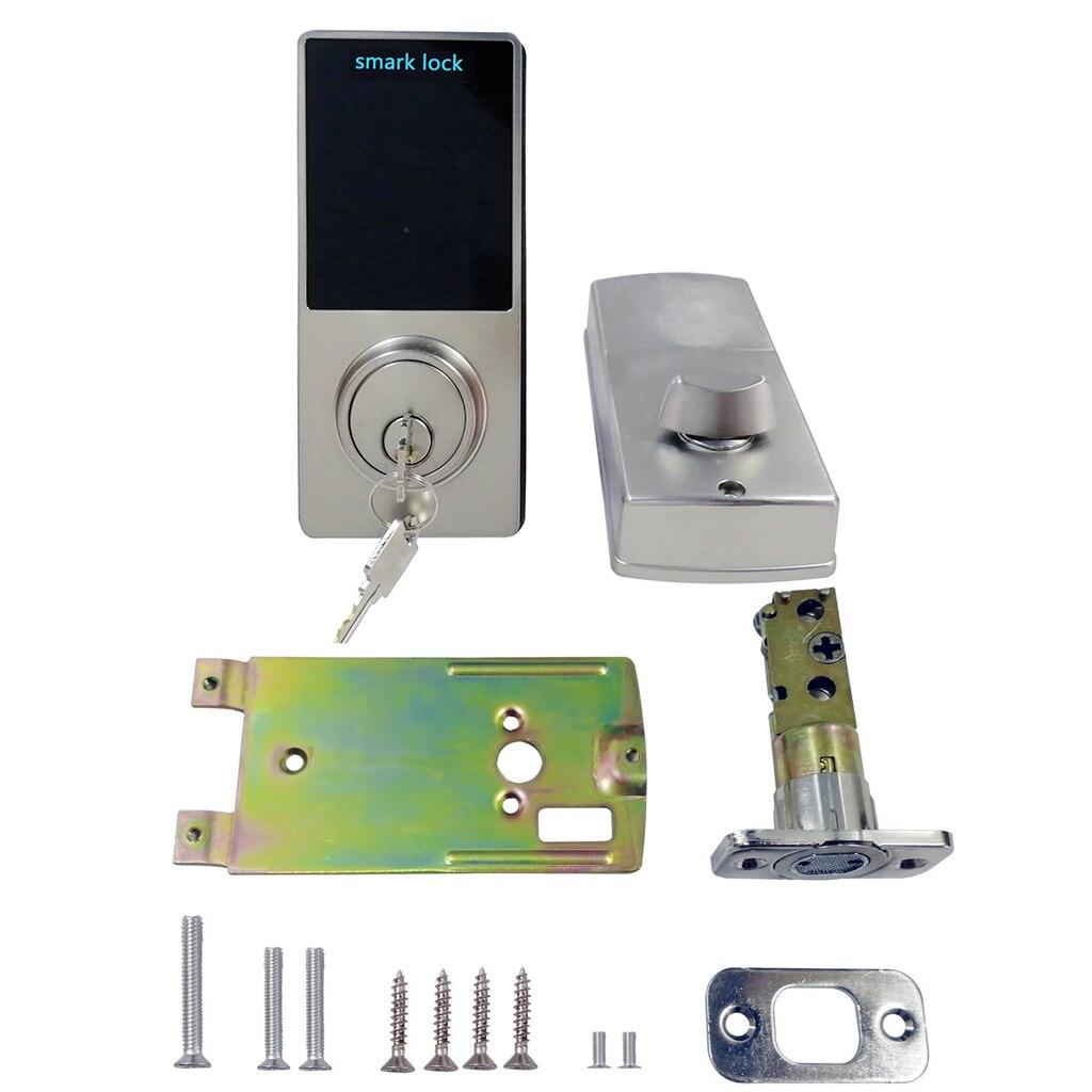 Touch Screen Password Bluetooth Door Lock Smart Phone App Control Remote Doorlock with Spare Keys raykube bluetooth electronic lock with password code app mobile phone opening touch screen smart door lock r x01