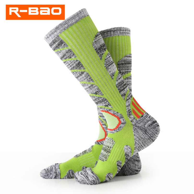 R-BAO Autumn and winter new mountaineering hiking socks long tube ski socks thick towel socks high-quality mens sports socks