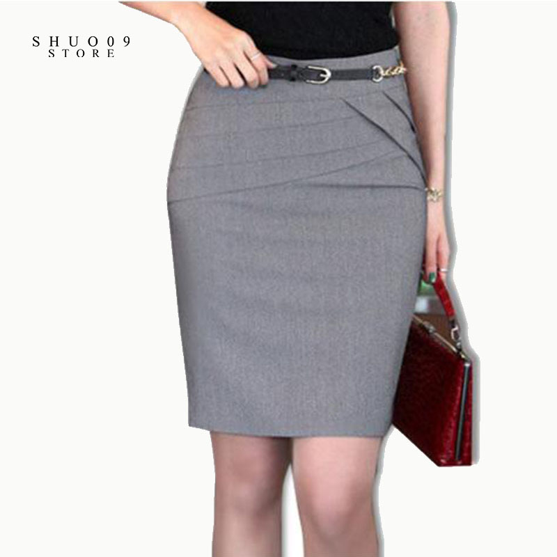 Women Skirts Autumn Winter Office Formal Pencil Skirts ...