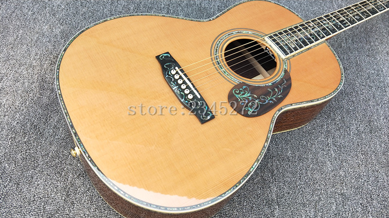 2019 Hot Sale Factory Custom 00 Series High Quality 39 Solid Top Acoustic Guitar Free Shipping
