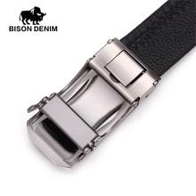 Genuine Leather Male Belt Automatic Buckle Casual  Business Belt Strap