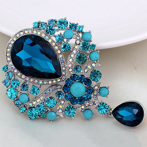87ebcba3903 Aliexpress.com : Buy Hot Women Men Brooch Wedding Bridal Bouquet Clear  Crystal Rhinestone Teardrop Dangle Brooch Pin from Reliable Brooches  suppliers on ...